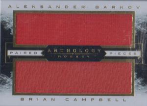 Brian Campbell/Aleksander Barkov - 2015-16 Panini Anthology Paired Pieces #44 /85