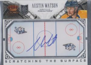 Austin Watson - 2013-14 Crown Royale Scratching the Surface Signatures #SCAW