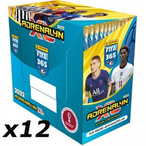 1 Case (12 lådor = 600 Pack) Panini Adrenalyn XL FIFA 365 2021-22