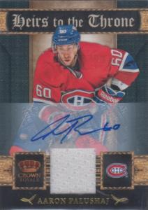 Aaron Palushaj - 2011-12 Crown Royale Heirs To The Throne Materials Autographs #22 /100