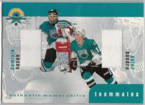 Dominik Hasek / Peter Bondra - 1999-00 BAP Update Teammates Jerseys #TM13