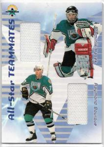 Dominik Hasek / Raymond Bourque - 2001-02 BAP Memorabilia All-Star Teammates #AST42