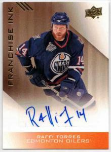 Raffi Torres - 2013-14 Upper Deck Edmonton Oilers Franchise Ink #FIRT