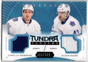 James van Riemsdyk / Nazem Kadri - 2015-16 Artifacts Tundra Tandems Jerseys Blue #TTVK /399