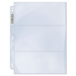 "3-Pocket (PROOF) Platinum Page with 3-1/2"" X 7-1/2"" [8.89 x 19.05cm] Pockets"
