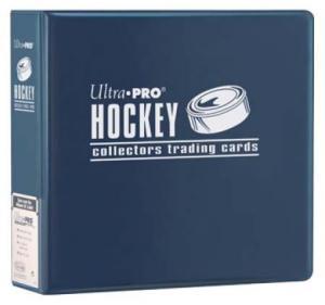 Hockey, pärm för lösa plastfickor - 3 ringspärm, blå