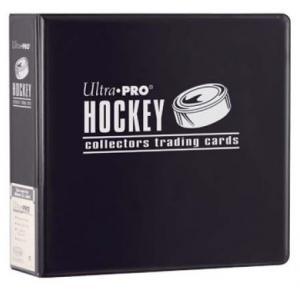 Hockey, 3 Ring Binder, Black
