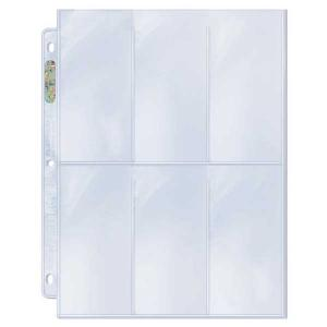 "6-Pocket Platinum Page with 2-1/2"" X 5-1/4"" [6.35 x 13.335cm] Pockets"