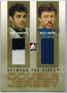 Billy Smith / Rick DiPietro 2006-07 Between The Pipes Double Jerseys Gold #DJ24, New York Islanders