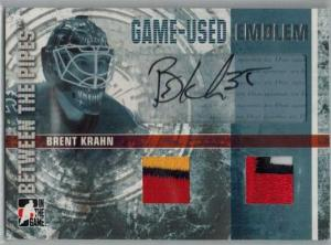 Brent Krahn 2006-07 Between The Pipes Emblems Autographs #GUE43