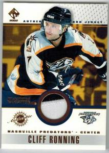 Cliff Ronning 2001-02 Private Stock Game Gear Patches #59