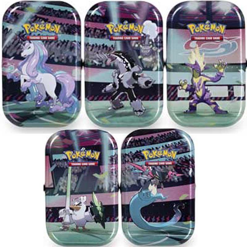 Pokémon, Galar Power Mini Tin x 5 (Dragapult, Obstagoon, Rapidash, Sir Fetch'd & Toxtricity Pumped)