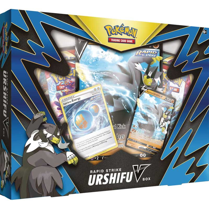 Pokemon Rapid Strike Urshifu V Box (Blå)