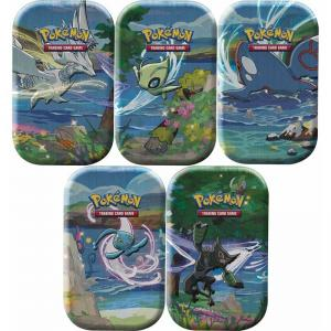 Pokémon, Shining Fates, Mini Tin x 5 (Celebi, Kyogre, Manaphy, Reshiram & Zarude)