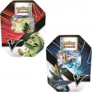 Pokémon, V Strikers Summer 2021 Tin x 2 (Tyranitar V + Empoleon V)
