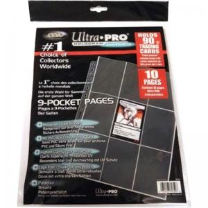 Pre Packed - 10 Plastic pages - Platinum - 9 Pocket