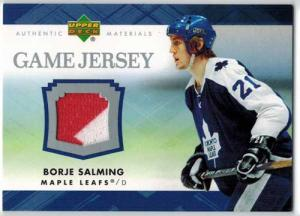 Börje Salming 2007-08 Upper Deck Game Jerseys #JSA