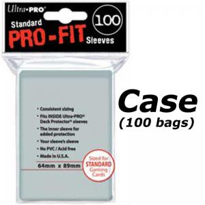 Case (100 bags) Pro-Fit sleeves standard size, transparent, 100st - Ultra Pro