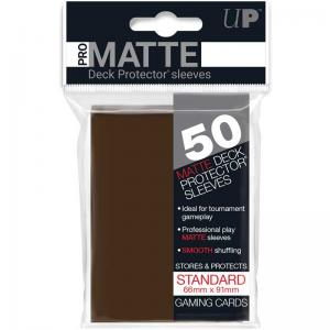 Deck protector sleeves, Pro Matte, Brown, 50ct