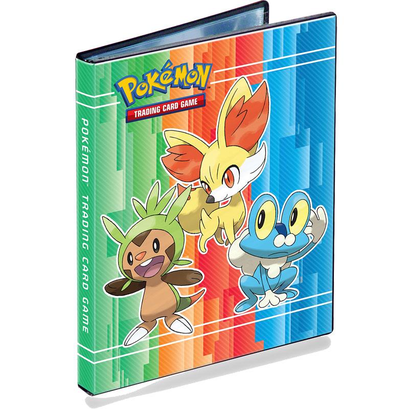 Pokemon, Portfoliopärm A5 (Rymmer 40 kort) X & Y (Chespin, Fennekin & Froakie) - 4 Pocket