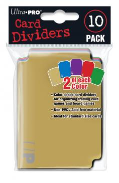 Card Dividers - 10 Pack (Färgade)