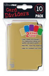 Card Dividers - 10 Pack (Colours)