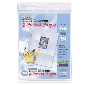 10st Plastfickor för pärm - Pokémon 9-Pocket Pages (10 count retail pack)