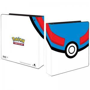 Pokemon, pärm för lösa plastfickor - 3 ringspärm - Great Ball