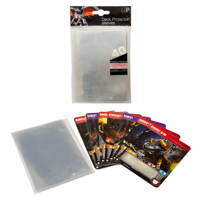 Ultra Pro, Oversized Clear Top Loading Deck Protector Sleeves 40ct (40 sleeves) (Kort ingår inte) - Clear