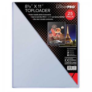 """Toploader, 8-1/2"""" X 11"""" (ca 215.9 mm x 279.4 mm), 25st"""