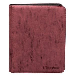 Suede Collection Zippered 9-Pocket Premium PRO-Binder - Ruby