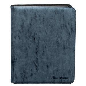 Suede Collection Zippered 9-Pocket Premium PRO-Binder - Sapphire