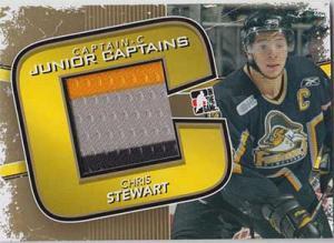 Chris Stewart 2011-12 ITG Captain-C Junior Captains Jerseys Gold #JC23