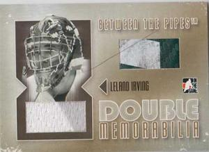 Leland Irving 2006-07 Between The Pipes Double Memorabilia Gold #DM09