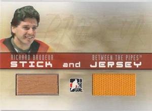 Richard Brodeur 2006-07 Between The Pipes Stick and Jersey #SJ39