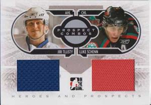 Jiri Tlusty / Luke Schenn 2008-09 ITG Heroes and Prospects Prospect Combos Memorabilia #PC08