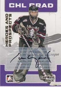 Cam Ward 2006-07 ITG Heroes and Prospects Autographs #ACW