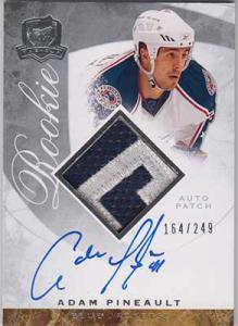 Adam Pineault 2008-09 The Cup #93 Patch Autograph RC /249