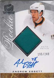 Andrew Ebbett 2008-09 The Cup #79 Patch Autograph RC /249