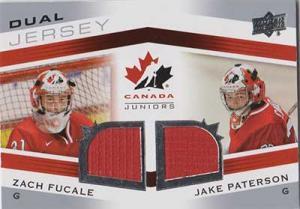 Jake Paterson / Zach Fucale 2014-15 Upper Deck Team Canada Juniors Dual Jerseys #TCDSP