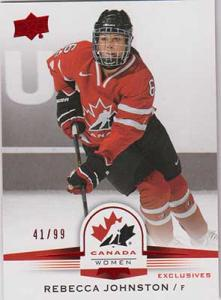 Rebecca Johnston 2014-15 Upper Deck Team Canada Juniors Red #149 /99