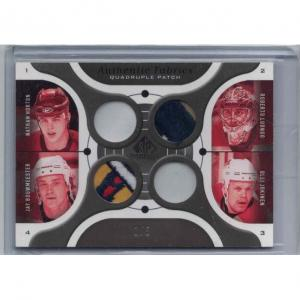 Nathan Horton / Roberto Luongo / Jay Bouwmeester / Olli Jokinen 2005-06 SP Game Used Authentic Fabrics Quad Patches #HLBJ /5
