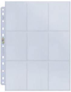 1 Plastic page - Platinum - 9 Pocket