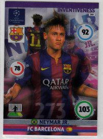 Inventiveness, 2014-15 Adrenalyn Champions League, Neymar Jr.