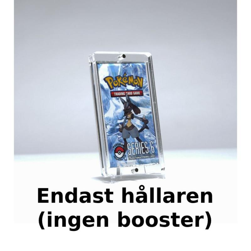 Magnet Booster Case X1 4mm Clear Acrylic + stand - Legendary Card Collector (No booster included)
