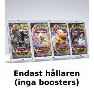 Magnet Booster Case for four boosters 4mm Clear Acrylic + stand - Legendary Card Collector (Inga boosters ingår)
