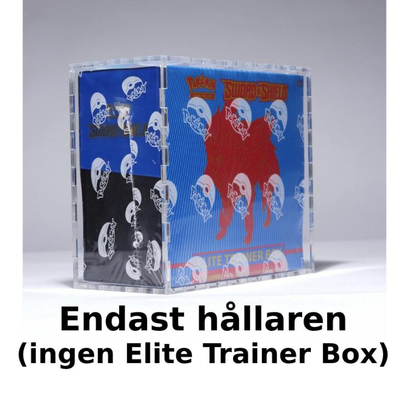Elite Trainer Box Case 4mm Clear Acrylic - Legendary Card Collector (No Elite Trainer Box included)