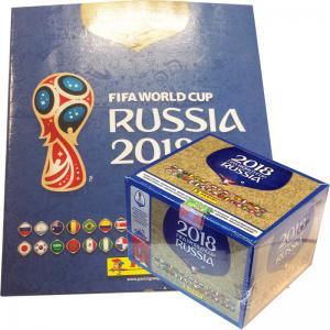 Box (100 Packs) + Free Album,Panini Stickers World Cup 2018