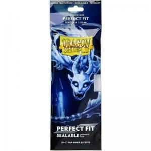 Dragon Shield JAPANESE Size Perfect Fit Sealable Inner Sleeves - Clear (100 Sleeves) [For Yu-Gi-Oh! cards]