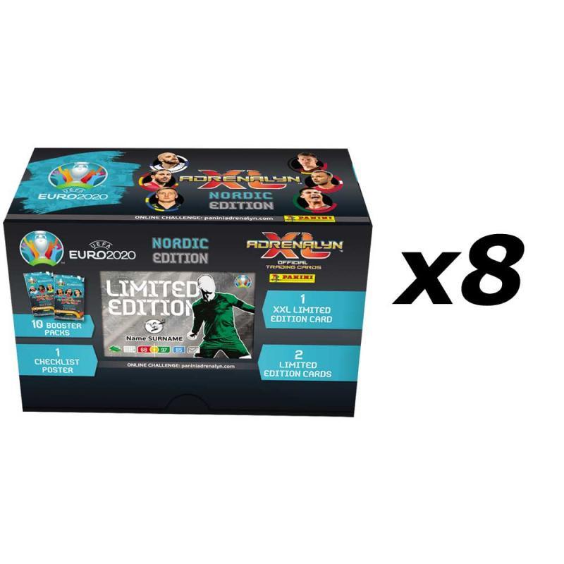 8st Gift Box, Nordic Edition Panini Adrenalyn XL Euro 2020
